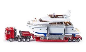 1:87 HEAVY HAULAGE TRANSPORTER WITH YACHT