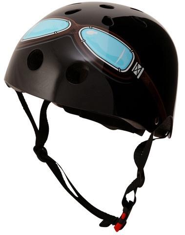 Kiddimoto Helmet, Black Goggle, S