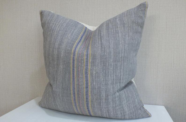 Heather Grey Vintage Pillow