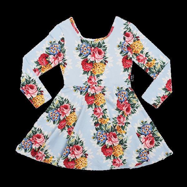 RYB HOLLYWOOD CHINTZ LS MABEL DRESS