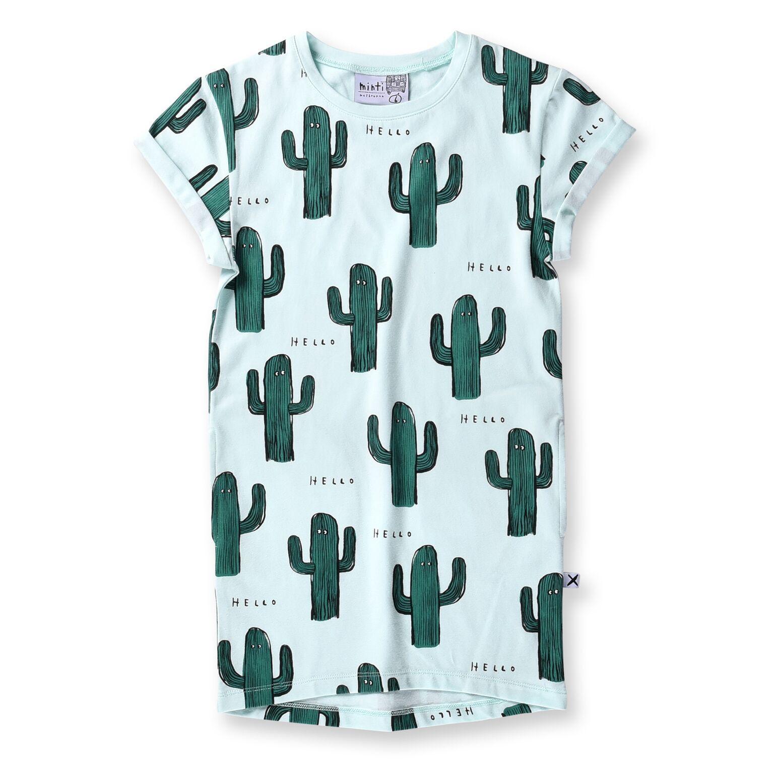 Minti Cactus Buddies Rolled Up Tee Dress