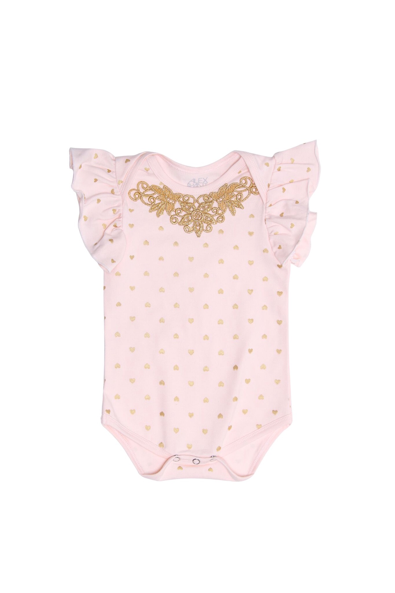 Alex & Ant Faith Heart Romper / pink