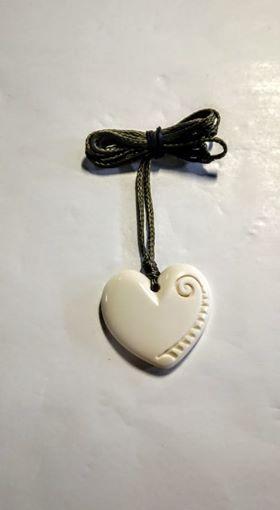 Heart Pendant PP Bone sm