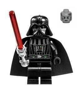 LEGO STAR WARS DARTH VADER HEADLAMP WITH SILICON LIGHTSABER
