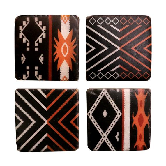 Morrocan Coaster Ochre- Set of 4