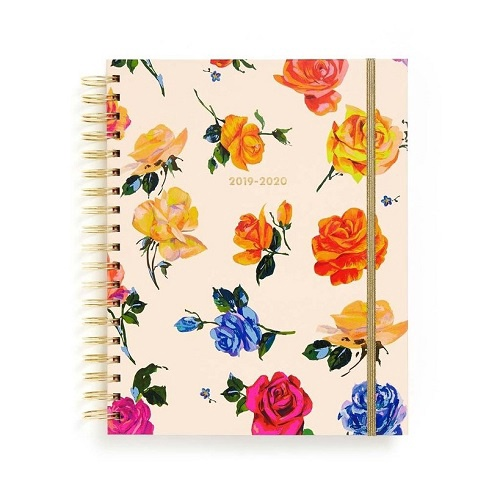 Large 17 Month Planner   Coming Up Roses 2019/2020