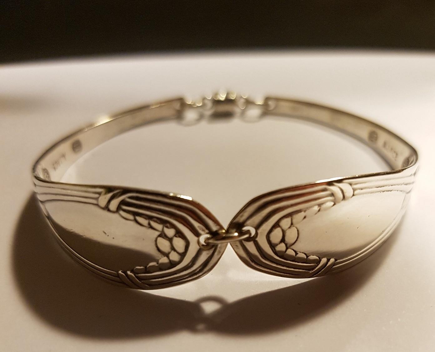 Danish 1917 silverspoon bracelet