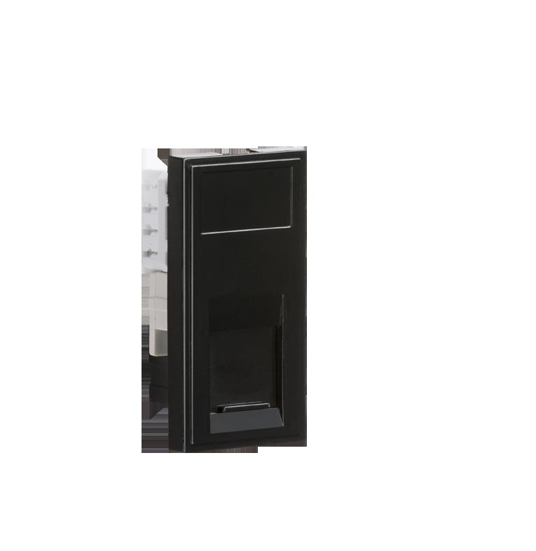 Black Modular UTP CAT6 RJ45 Outlet