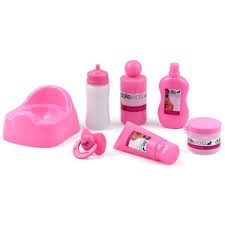 DOLL'S WORLD BABY CARE SET