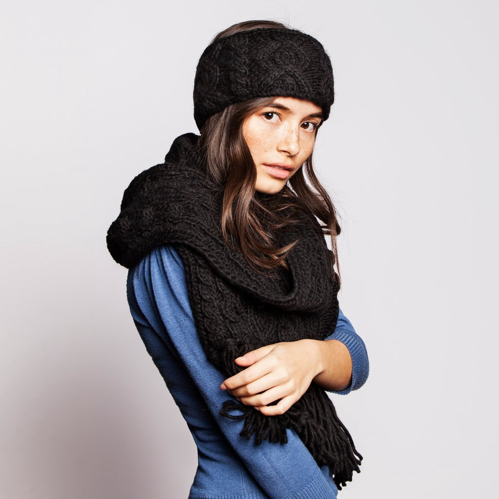 RELLA - HI RISE SCARF IN BLACK