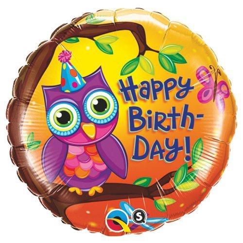 OWL HAPPY BIRTHDAY FOIL BALLOON