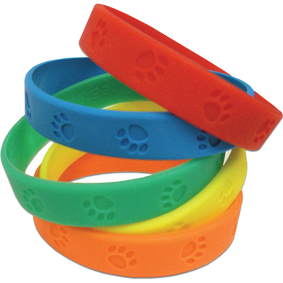 X TCR 6552 PAW PRINTS WRISTBANDS