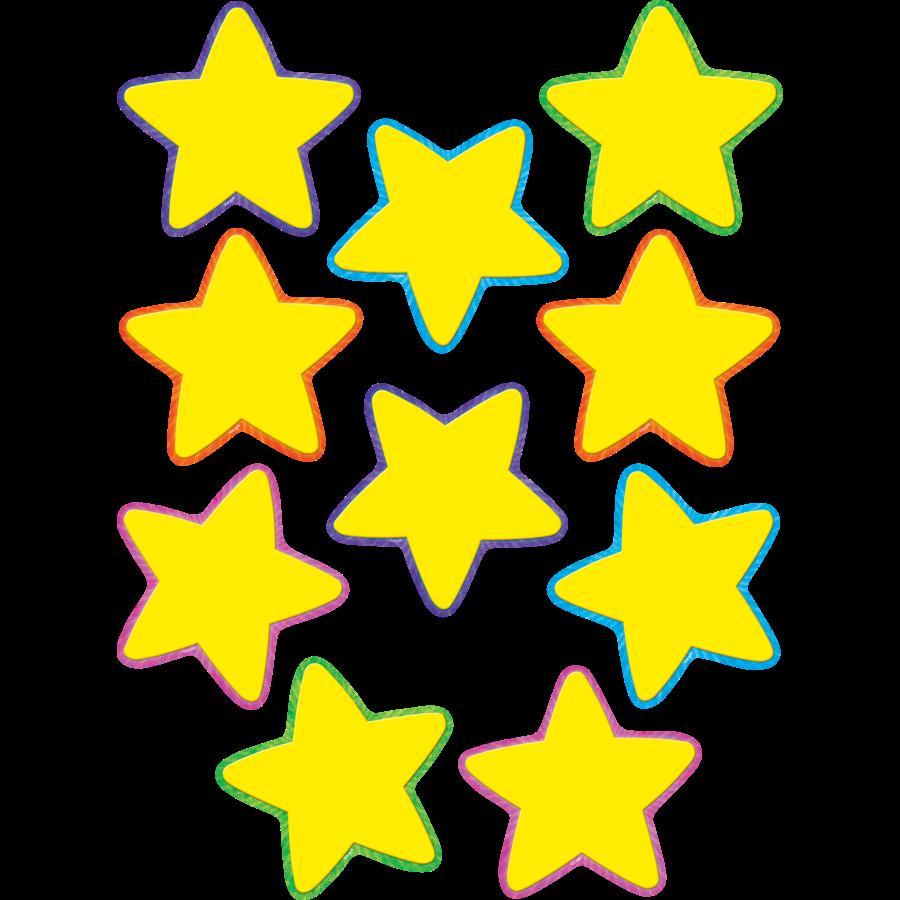 TCR 4591 YELLOW STARS CUTOUTS