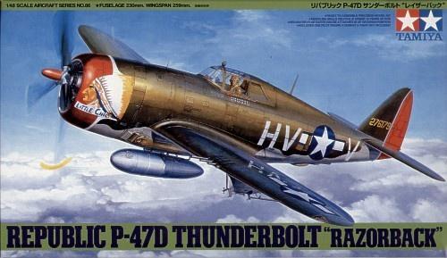 Tamiya #61086 . 1/48 Republic P-47D Thunderbolt RAZORBACK