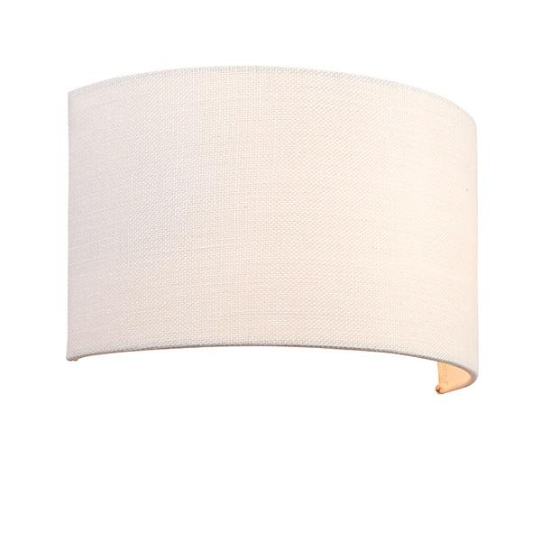 Obi 1lt wall 40W - vintage white linen vintage white polyester cotton