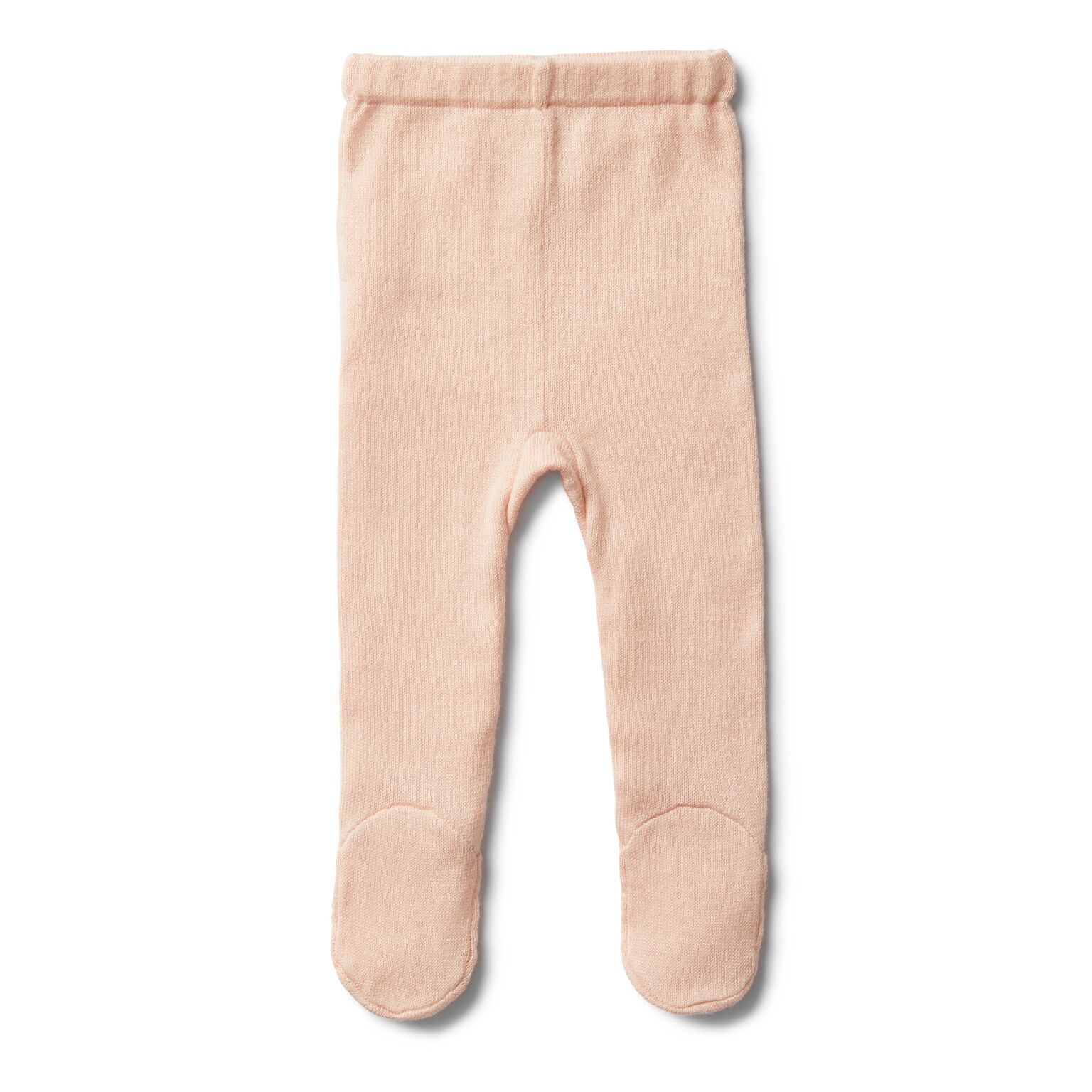 WF Peachy pink knitted legging with feet