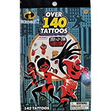 INCREDIBLES 4 SHEET TATTOO BOOK