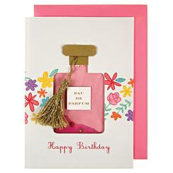 PERFUME BOTTLE SEQUIN SHAKER CARD