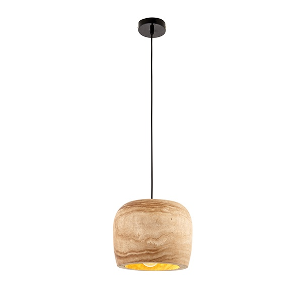 Lucy 1lt pendant 40W - natural wood