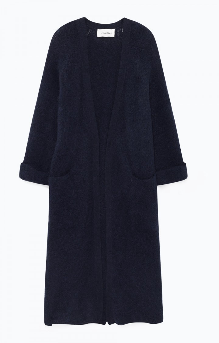 Woxilen Navy Long Cardigan from American Vintage