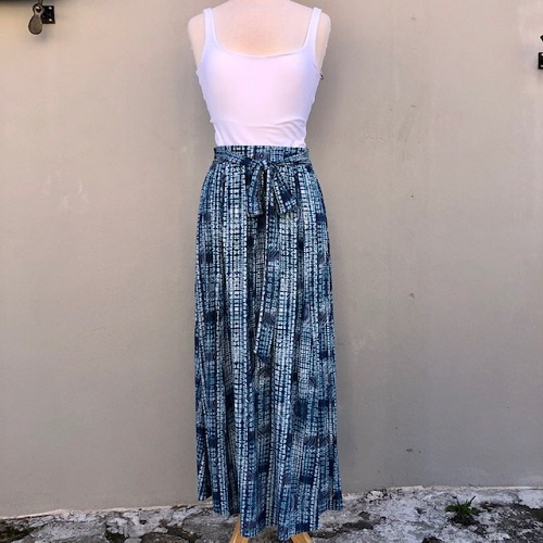 Amalfi Double Slit Skirt | Aztec Blue