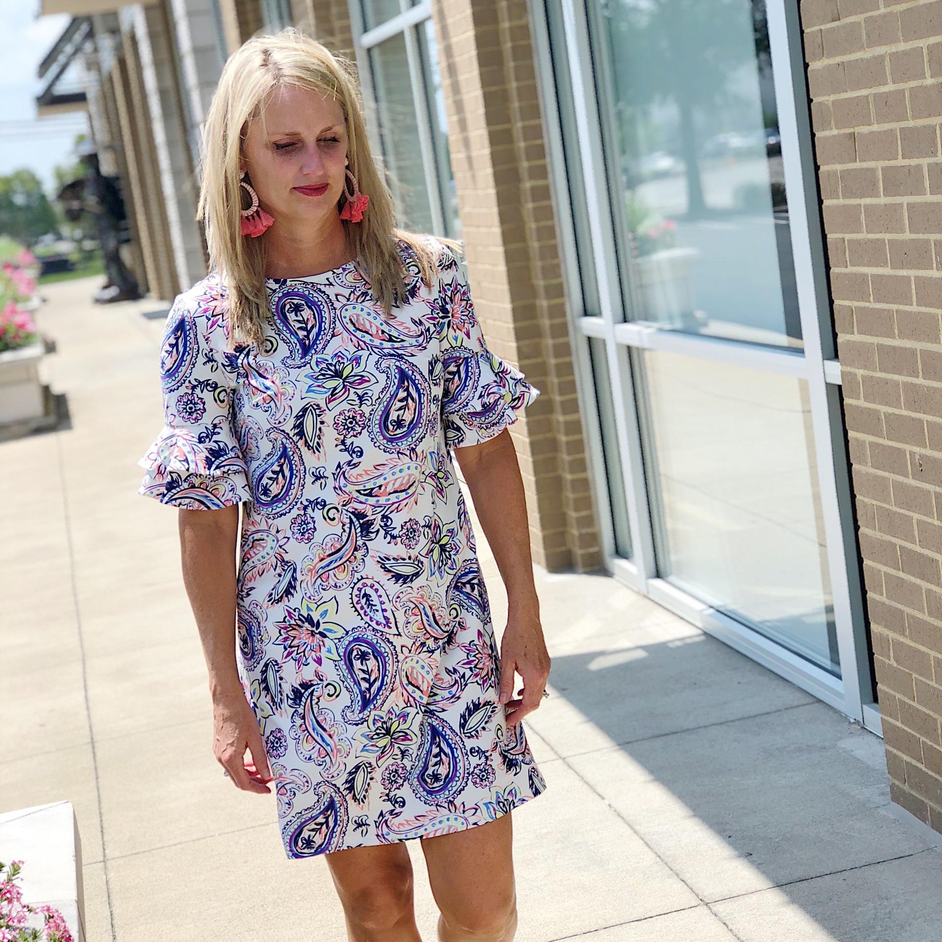Ruffle S/S Nylon Dress
