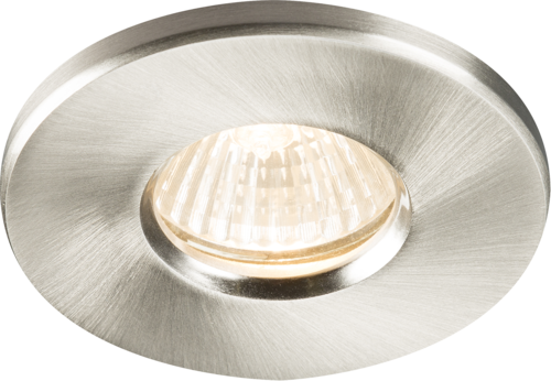 IP65 RECESSED DOWNLIGHT BRUSHED CHROME GU10/MR16