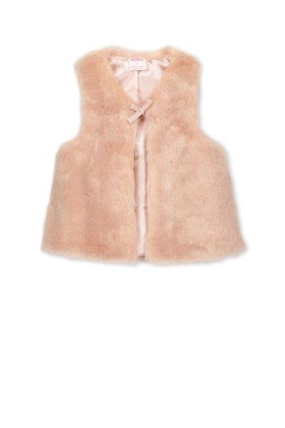Milky Fur Vest Rose Pink