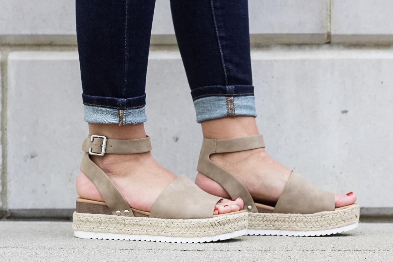 Platform Sandal w Ankle Buckle