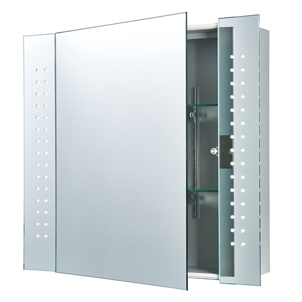 Revelo shaver cabinet mirror IP44 5W SW wall - mirrored glass