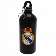 REAL MADRID F.C. ALUMINIUM DRINKS BOTTLE BLACK