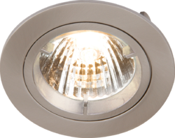 FIXED BRUSHED CHROME TWIST-LOCK DOWNLIGHT GU10/MR16