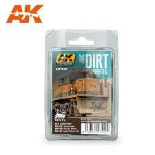 AK Interactive #AK7020 Basic Dirt Effects Weathering Set