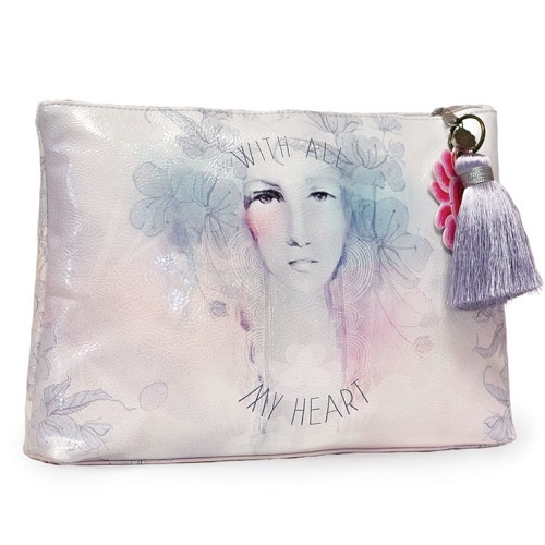 All My Heart Large Tassel Pouch