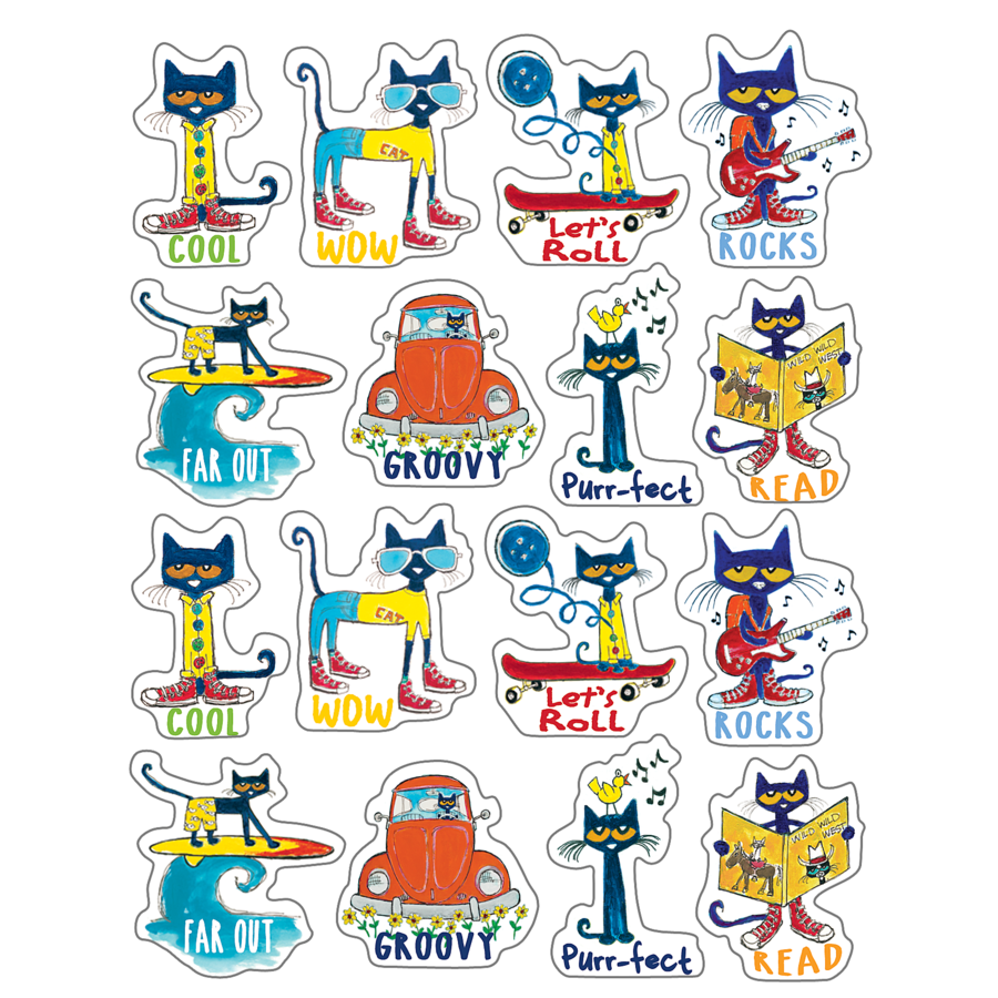TCR 63935 PETE THE CAT STICKERS