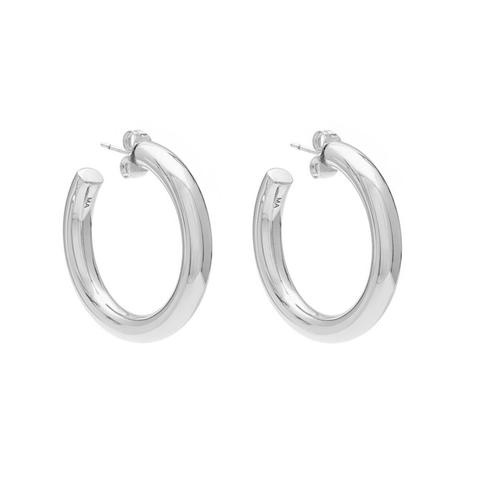 MELANIE AULD - MINI MODERN HOOPS IN SILVER