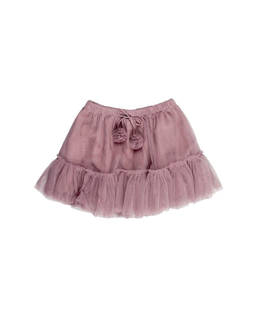 Huxbaby Pom Pom Tulle Skirt - Plum