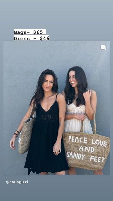 SB- Large Jute Bag - Peace Love and Sandy Feet
