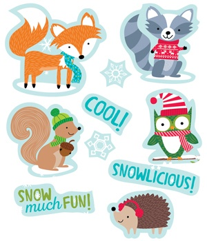 CTP 4047 WINTERWOODLAND FRIENDS STICKERS