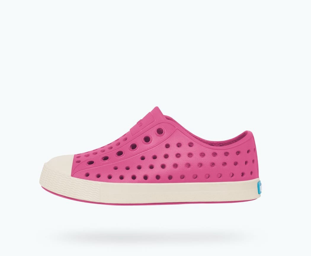 Native Jefferson Shoe, Child, Hollywood Pink/Shell White