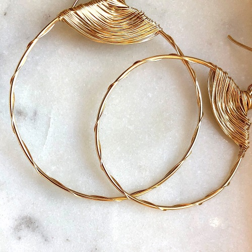 Imperfection Classic Hoop Earrings | Yellow Gold