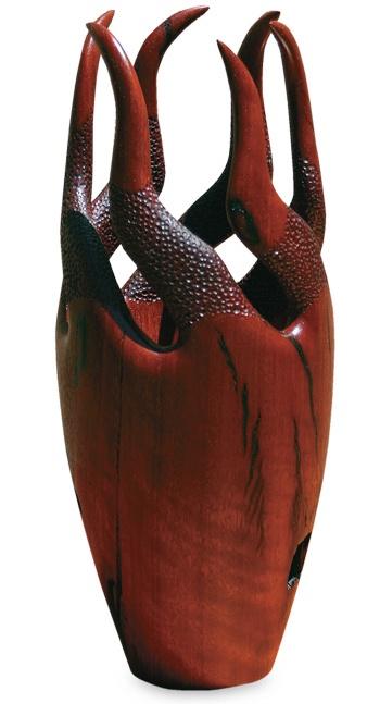 Wooden Sculpture - Tentacles