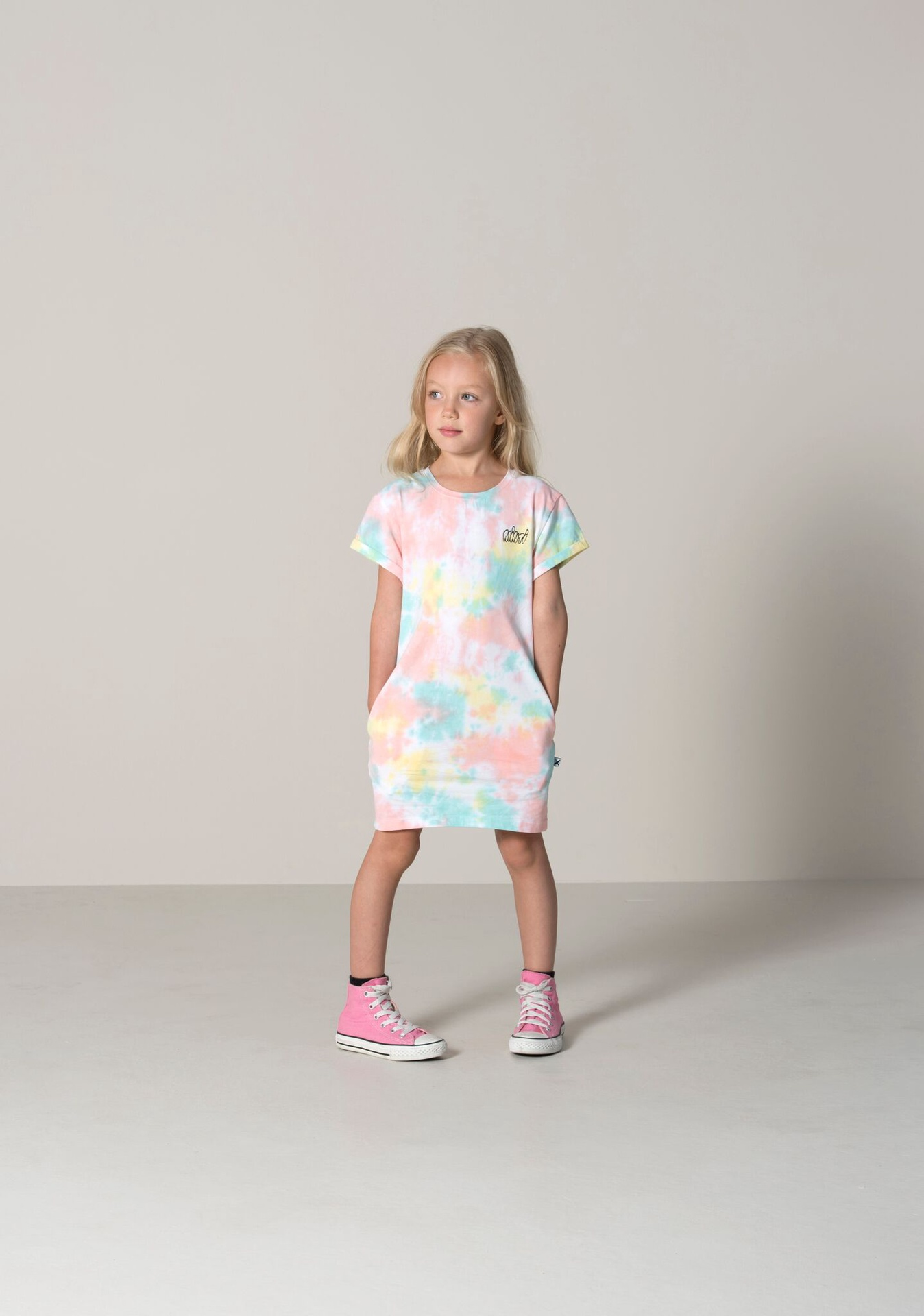 Minti Frosty Rolled Up Tee Dress