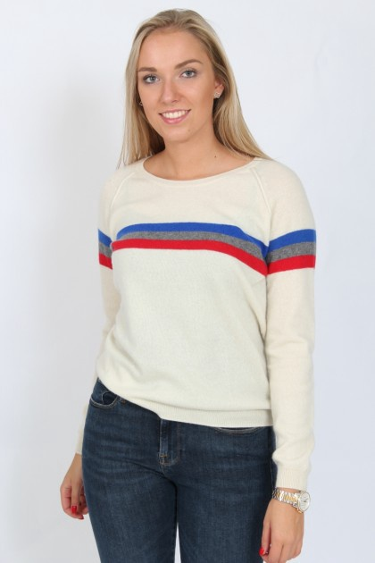 Pull stripe jumper by Absolut Cashmere