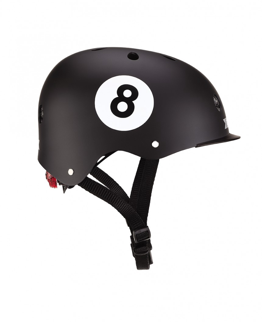 GLOBBER HELMET ELITE LIGHTS 8 BALL
