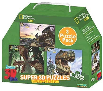 3D PUZZLE DUCK BILLED MICRORAPTOR T-REX X 3