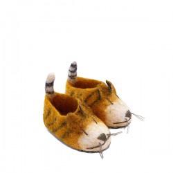 FELT TIGER SLIPPERS - LARGE