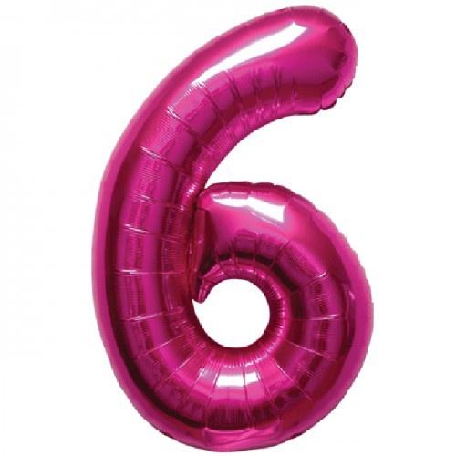 NUMBER 6 MEGENTA 34''