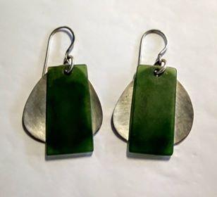 Silver and inanga earrings 1-354