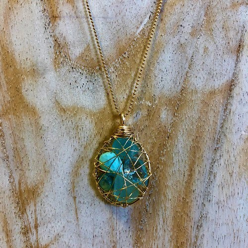 Small Treasure Pendant | Blue Turquoise
